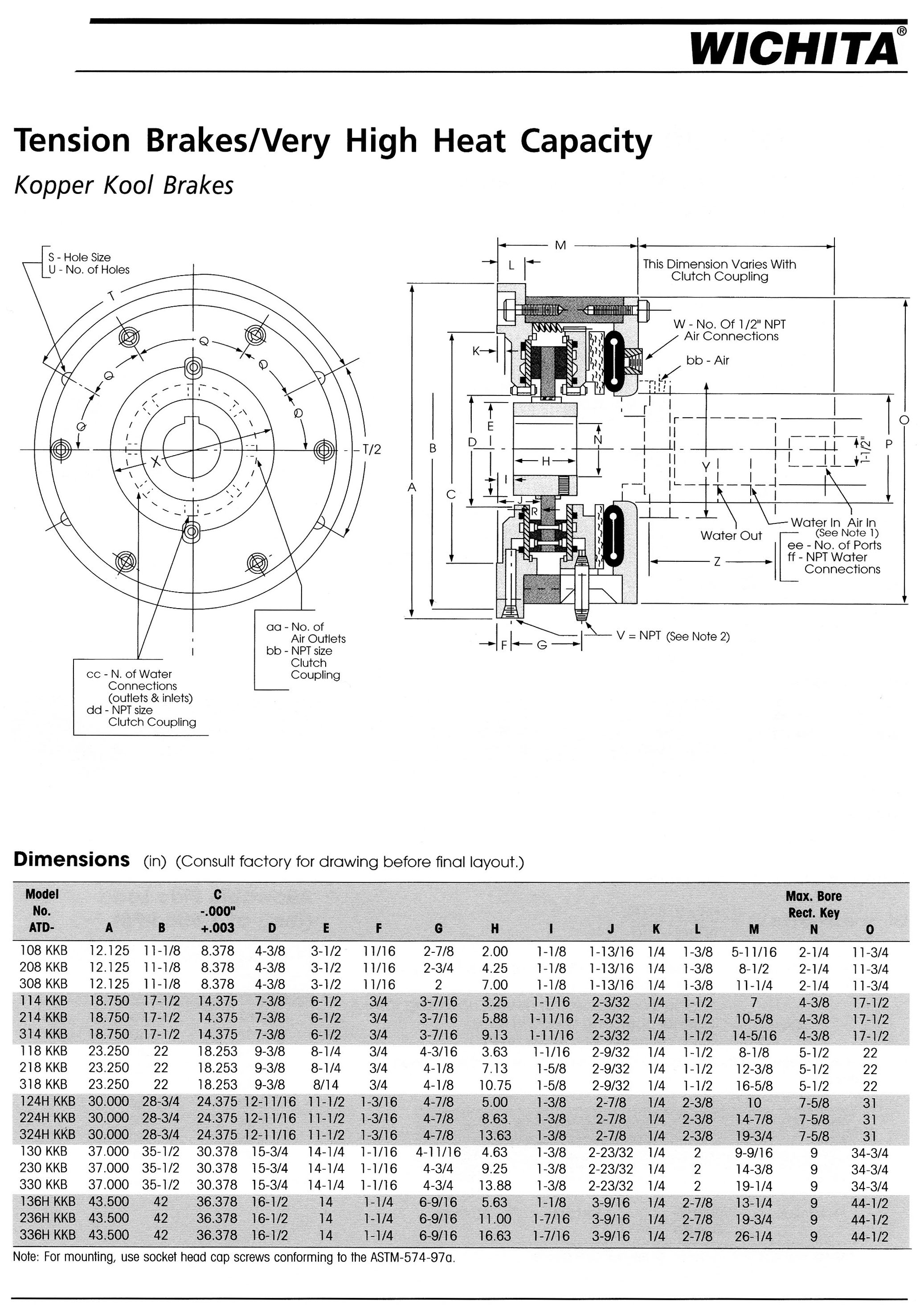 Ottawa Clutch Automotive Industrial Agricultural Clutches 1968 Ford Galaxie Engine Diagram 16 Wichita Kopper Kool And Tension Brakes