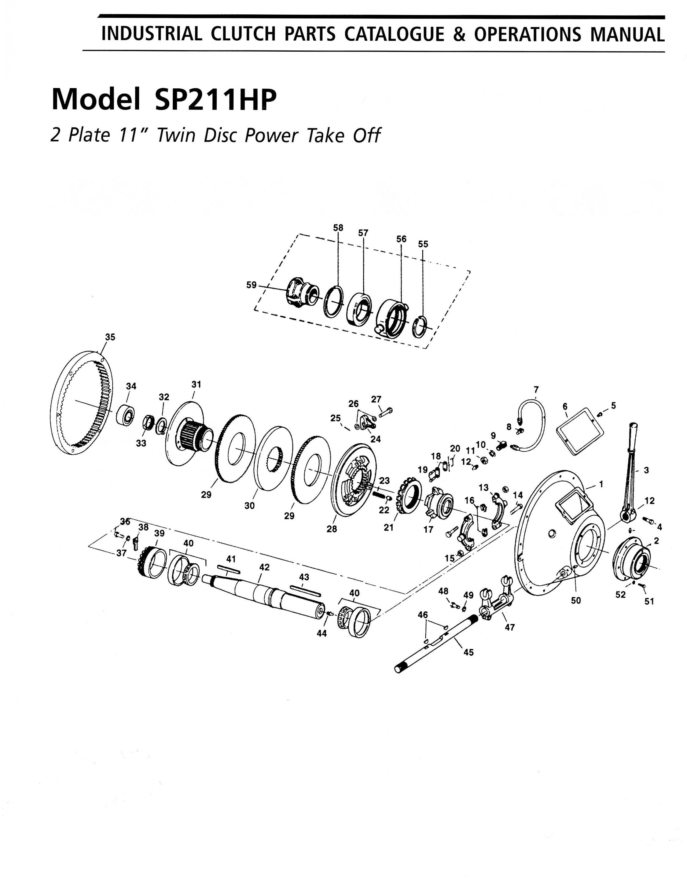 Ottawa Clutch Automotive Industrial Agricultural Clutches 1968 Ford Galaxie Engine Diagram 24 Sp211hp Parts List