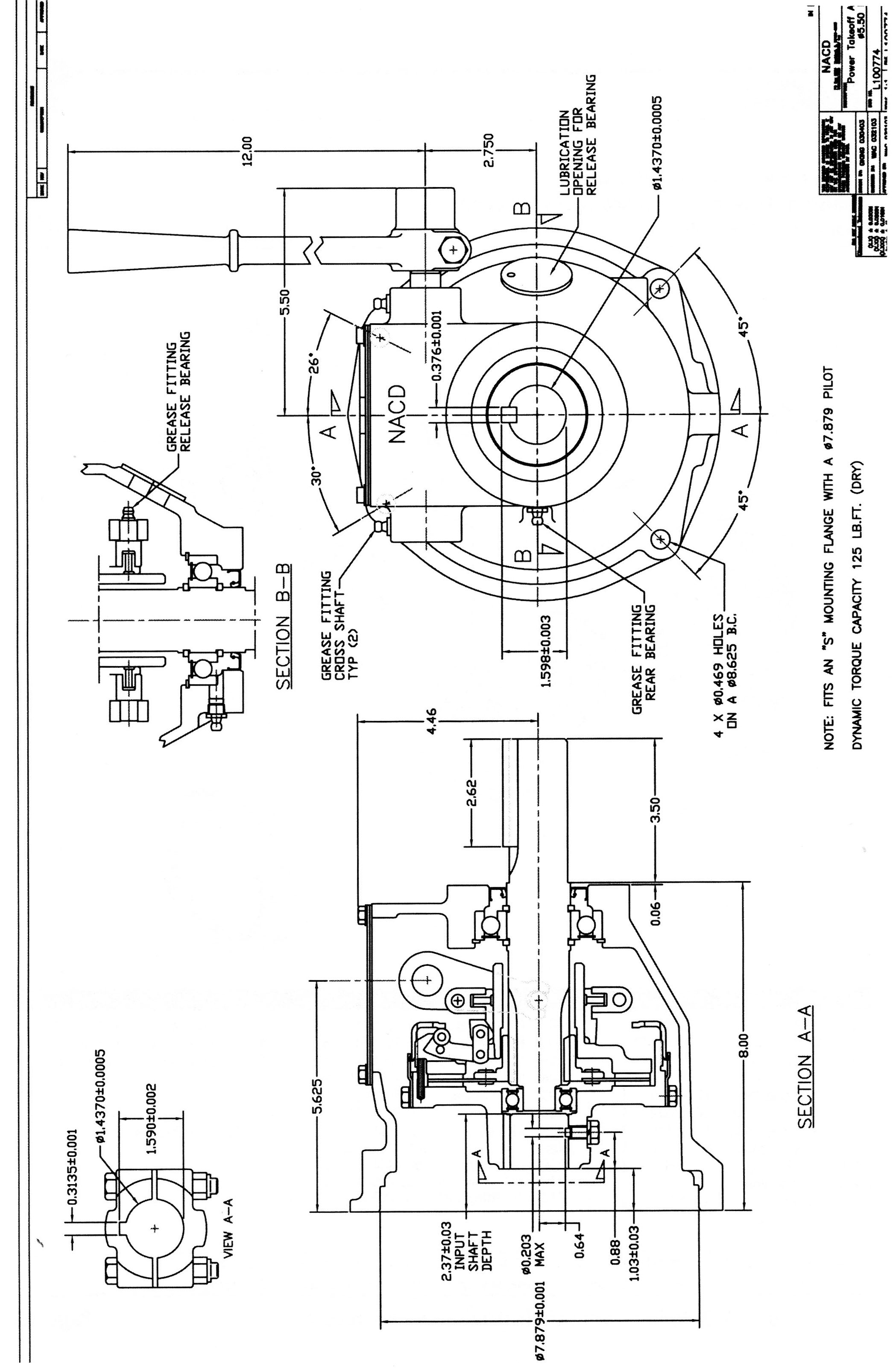 Ottawa Clutch Automotive Industrial Agricultural Clutches 1968 Ford Galaxie Engine Diagram 63 Dimensional Drawings 7 8 Pilot C W 5 Bolt Circle